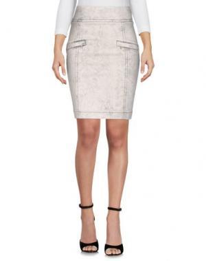 Джинсовая юбка PIERRE BALMAIN. Цвет: светло-серый