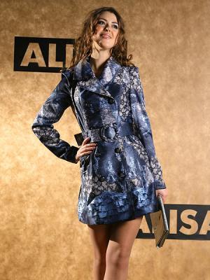Плащ Alisa Line. Цвет: синий, черный