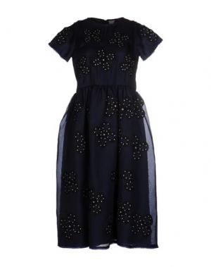 Платье до колена JUPE BY JACKIE. Цвет: темно-синий