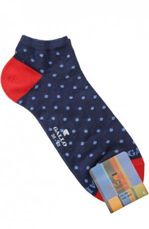 Хлопковые укороченные носки Gallo. Цвет: синий