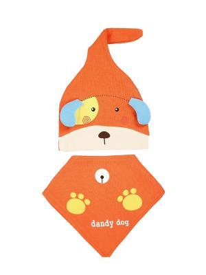 Комплект детский-шапка/косынка Оланж Ассорти. Цвет: оранжевый