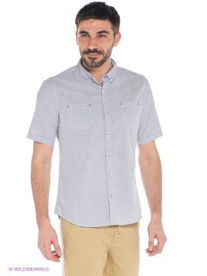 Рубашка Oodji. Цвет: серо-голубой