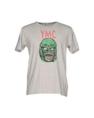 Футболка YMC YOU MUST CREATE. Цвет: светло-серый