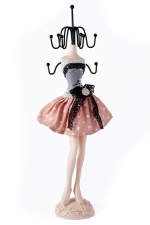Подставка для цепочек 31 см Русские подарки. Цвет: розовый, серый, черный