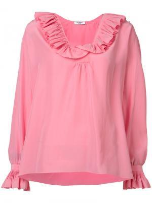 Блузка с оборками Vilshenko. Цвет: розовый и фиолетовый