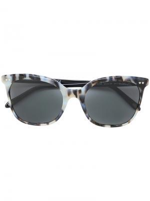 Солнцезащитные очки кошачий глаз с черепаховым узором Tiffany & Co.. Цвет: синий