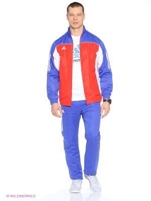 Костюм спортивный Tracksuit Martial Arts Adidas. Цвет: синий, красный, белый