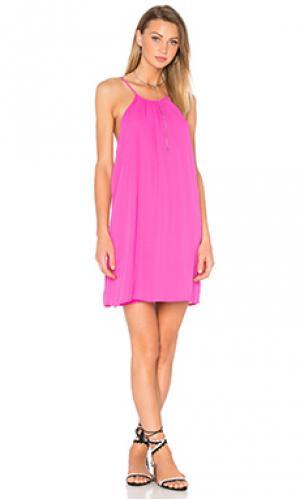 Платье-майка WAYF. Цвет: фуксия