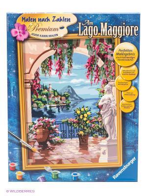 Раскраска по номерам Итальянский пейзаж Ravensburger. Цвет: синий, белый, желтый, коричневый, розовый