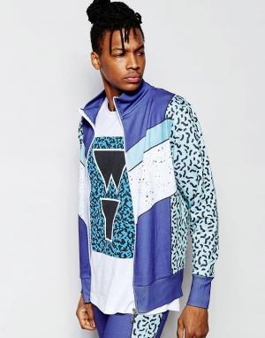 Wasted Youth Спортивная куртка. Цвет: синий