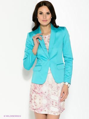 Пиджак Pompa. Цвет: бирюзовый