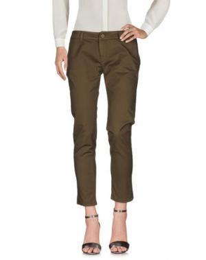 Повседневные брюки NIOI. Цвет: зеленый-милитари