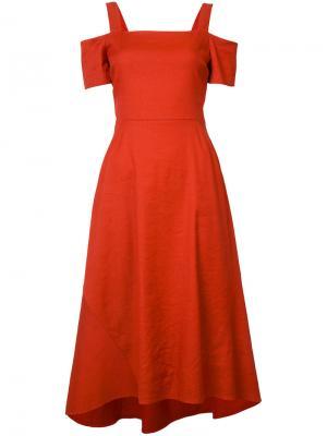 Платье Daniel A.L.C.. Цвет: красный