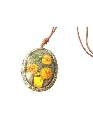 Кулон МЕДАЛЬОН желтый BRADEX. Цвет: бронзовый, золотистый, светло-желтый