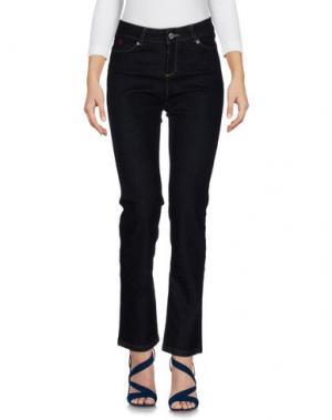 Джинсовые брюки COTTON BELT. Цвет: синий