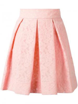 Плиссированная юбка Boutique Moschino. Цвет: розовый и фиолетовый