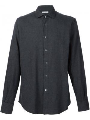 Классическая рубашка Boglioli. Цвет: серый