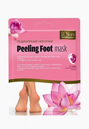 Маска для ног ElSkin El'Skin. Цвет: розовый