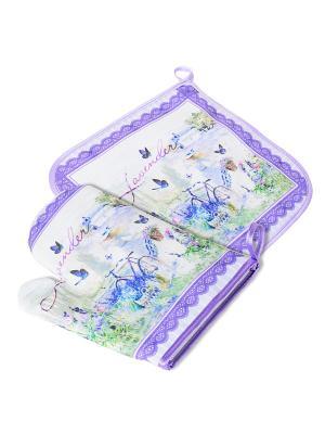 Лаванда набор 1: прихватка + варежка Gift'n'Home. Цвет: белый, салатовый, сиреневый, фиолетовый