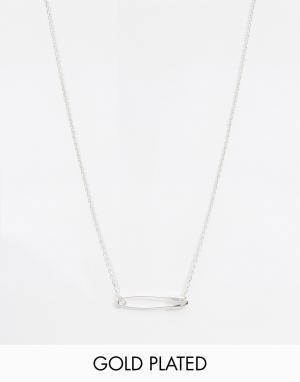 Eyland Ожерелье с подвеской в виде английской булавки Thora. Цвет: серебряный