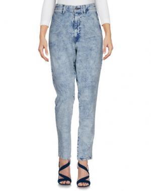Джинсовые брюки BASSIKE. Цвет: синий