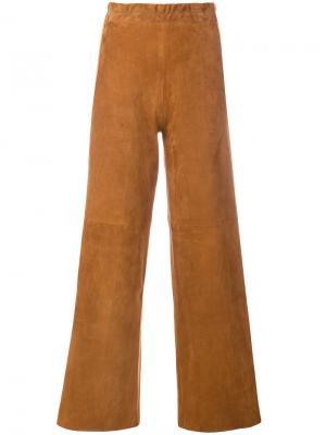 Расклешенные фактурные брюки Sylvie Schimmel. Цвет: коричневый