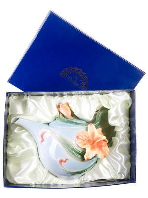 Заварочный чайник Лилии Pavone. Цвет: голубой, оранжевый, зеленый
