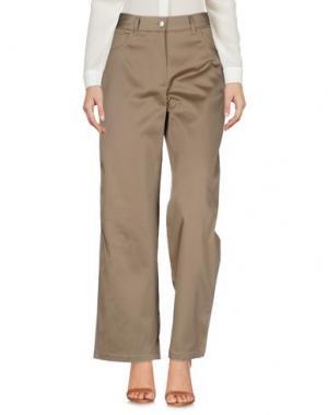 Повседневные брюки WOOD. Цвет: песочный