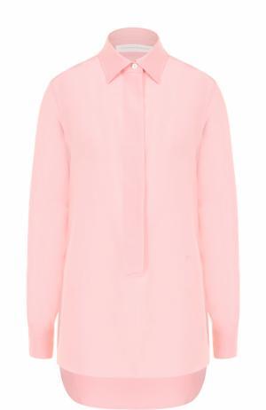 Шелковая блуза прямого кроя с удлиненной спинкой Victoria Beckham. Цвет: светло-розовый