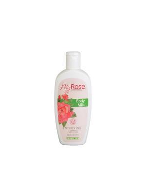 Молочко для тела Body Milk My Rose OF BULGARIA Lavena. Цвет: бледно-розовый