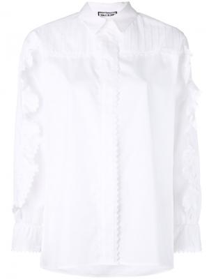Рубашка с оборками на рукавах Paul & Joe. Цвет: белый