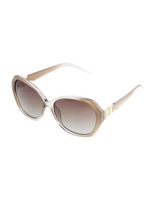 Солнцезащитные очки. Bijoux Land. Цвет: бежевый