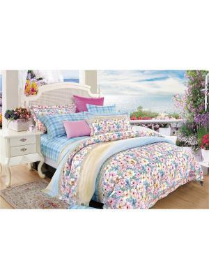 Комплект постельного белья ROMEO AND JULIET. Цвет: голубой, розовый, светло-голубой