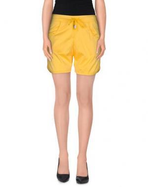 Повседневные шорты JIJIL. Цвет: желтый