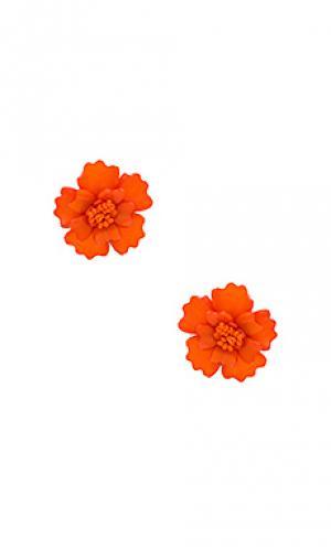 Серьги the gardenia All Things Mochi. Цвет: оранжевый