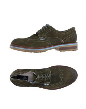 Обувь на шнурках LE CROWN. Цвет: зеленый-милитари
