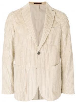 Вельветовый пиджак The Gigi. Цвет: телесный
