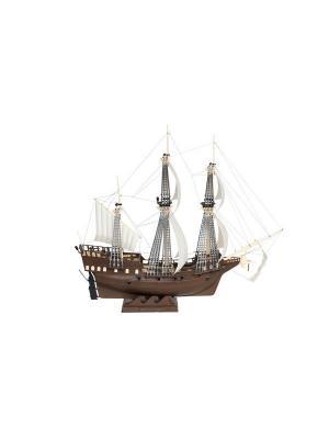 Сборная модель-копия. Парусный военный корабль Орел Огонек. Цвет: коричневый