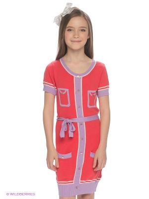Платье F5. Цвет: коралловый, сиреневый
