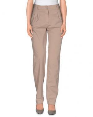 Повседневные брюки LA FEE MARABOUTEE. Цвет: бежевый