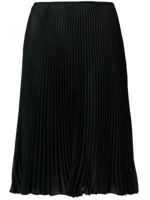 Расклешенная плиссированная юбка Prada. Цвет: чёрный