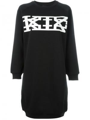 Платье-толстовка KTZ. Цвет: чёрный