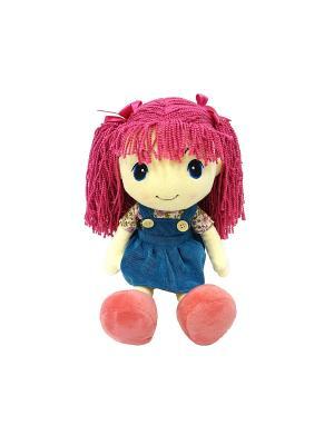 Кукла стильняшка с малиновыми волосами, 25 см(MT-HH-R9068E2) MAXITOYS. Цвет: синий, бежевый, фуксия