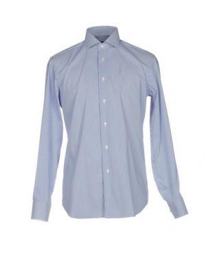Pубашка ZANETTI. Цвет: синий