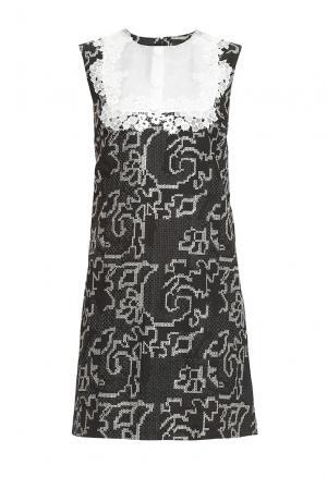 Платье изо льна с шелком 147488 Yanina. Цвет: монохром