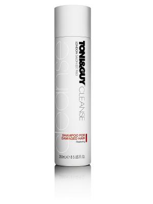 Шампунь Восстанавливающий для поврежденных волос, 250мл Toni&Guy. Цвет: белый