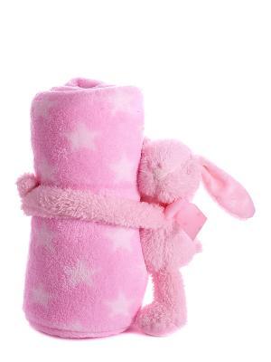 Плед с игрушкой Русские подарки. Цвет: розовый