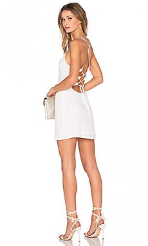 Обтягивающее платье lauren NBD. Цвет: белый