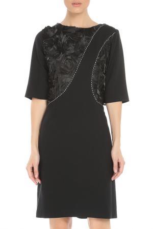 Платье MODART. Цвет: черный, розы