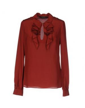Блузка WALTER VOULAZ. Цвет: красно-коричневый